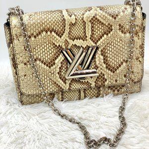 🐍RARE Louis Vuitton Python Twist MM shoulder bag